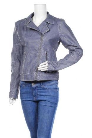 Дамско кожено яке Gina, Размер M, Цвят Син, Еко кожа, Цена 16,91лв.