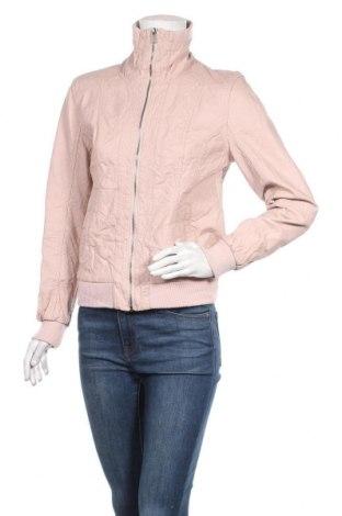Дамско кожено яке Gina, Размер M, Цвят Розов, Еко кожа, Цена 38,75лв.