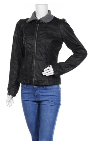 Γυναικείο δερμάτινο μπουφάν Gina, Μέγεθος M, Χρώμα Μαύρο, Δερματίνη, Τιμή 10,91€