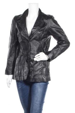Дамско кожено яке Gipsy, Размер XL, Цвят Черен, Естествена кожа, Цена 124,69лв.