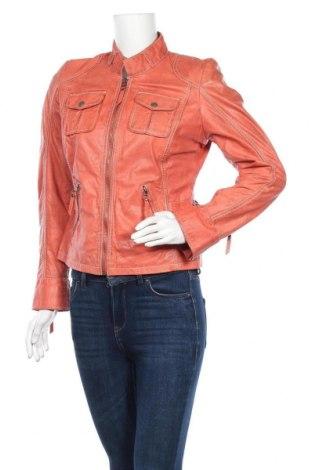 Дамско кожено яке Gipsy, Размер M, Цвят Розов, Естествена кожа, Цена 93,87лв.