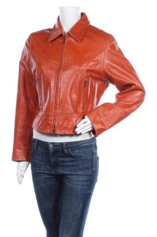 Γυναικείο δερμάτινο μπουφάν Gipsy, Μέγεθος XL, Χρώμα Πορτοκαλί, Γνήσιο δέρμα, Τιμή 38,93€