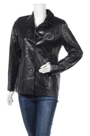 Дамско кожено яке Gipsy, Размер M, Цвят Черен, Естествена кожа, Цена 23,36лв.