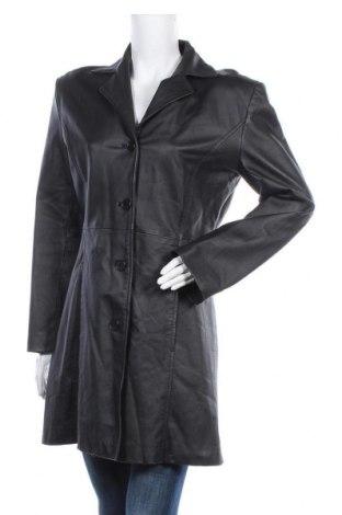 Дамско кожено яке Gossip, Размер XL, Цвят Черен, Естествена кожа, Цена 51,24лв.