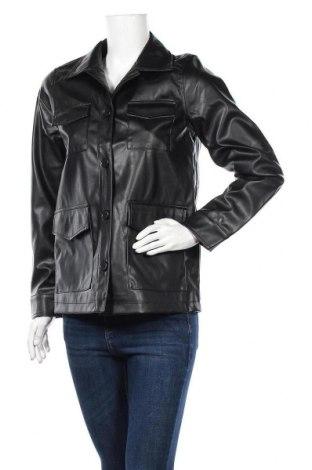 Дамско кожено яке Jacqueline De Yong, Размер S, Цвят Черен, Еко кожа, Цена 33,97лв.