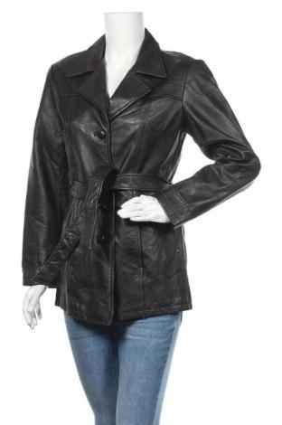 Дамско кожено яке Jacqueline Ferrar, Размер S, Цвят Черен, Естествена кожа, Цена 49,77лв.