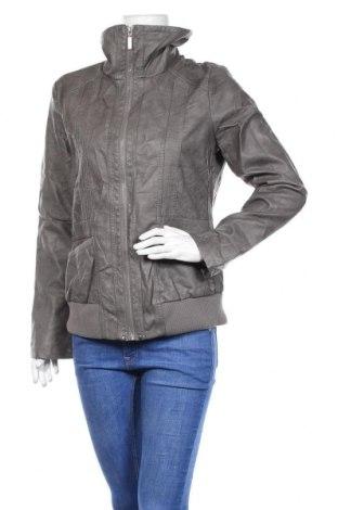 Дамско кожено яке Janina, Размер M, Цвят Сив, Еко кожа, Цена 17,61лв.