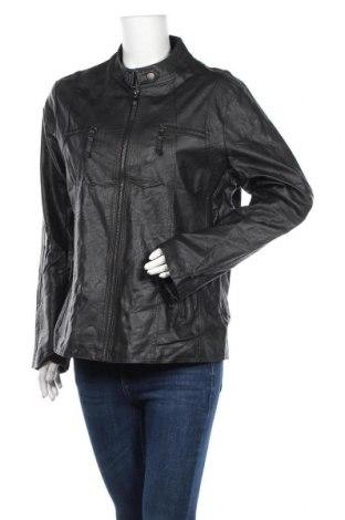 Дамско кожено яке Janina, Размер XL, Цвят Черен, Еко кожа, Цена 29,40лв.