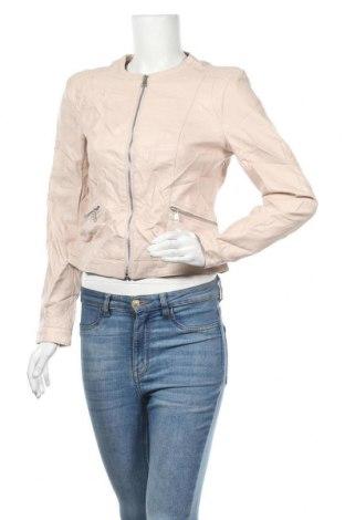 Дамско кожено яке Jennifer Taylor, Размер M, Цвят Бежов, Еко кожа, Цена 37,49лв.