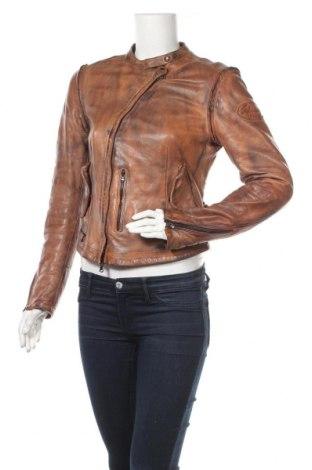 Дамско кожено яке Jetset, Размер M, Цвят Кафяв, Естествена кожа, Цена 105,46лв.