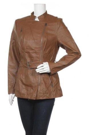 Дамско кожено яке John Baner, Размер M, Цвят Кафяв, Еко кожа, Цена 39,90лв.