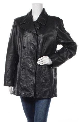 Дамско кожено яке Jones New York, Размер XL, Цвят Черен, Естествена кожа, Цена 85,68лв.