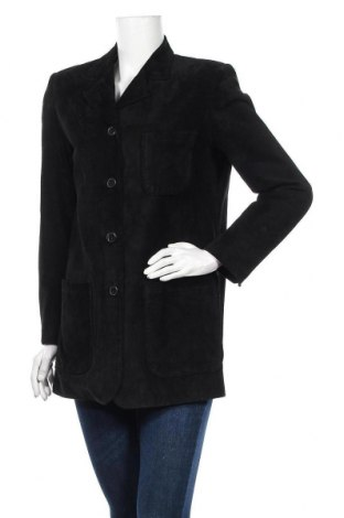 Γυναικείο δερμάτινο μπουφάν Joy, Μέγεθος S, Χρώμα Μαύρο, Φυσικό σουέτ, Τιμή 15,68€