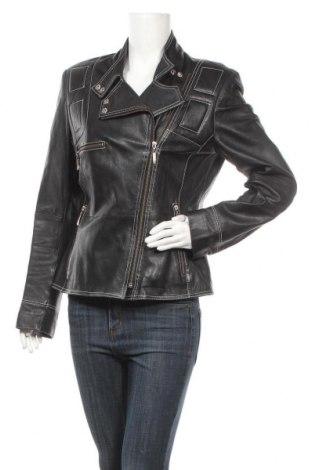 Дамско кожено яке Joy, Размер M, Цвят Черен, Естествена кожа, Цена 48,72лв.