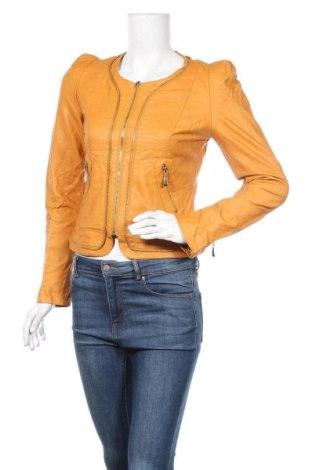 Дамско кожено яке Js Millenium, Размер S, Цвят Оранжев, Еко кожа, Цена 27,20лв.