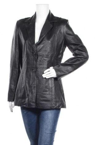 Дамско кожено яке Just Jeans, Размер L, Цвят Черен, Естествена кожа, Цена 41,48лв.