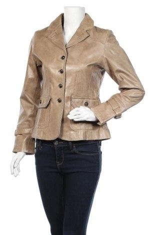 Дамско кожено яке Kate Storm, Размер M, Цвят Бежов, Естествена кожа, Цена 77,81лв.