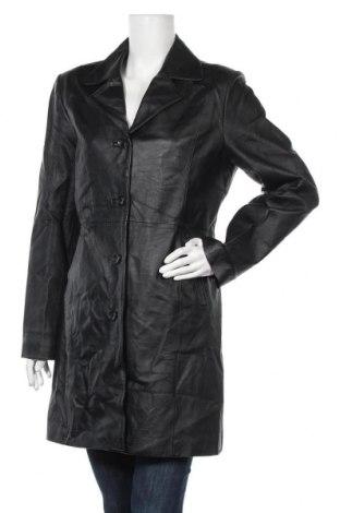 Γυναικείο δερμάτινο μπουφάν Kenvelo, Μέγεθος M, Χρώμα Μαύρο, Γνήσιο δέρμα, Τιμή 20,00€