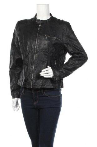 Дамско кожено яке Laura Torelli, Размер XL, Цвят Черен, Еко кожа, Цена 25,41лв.