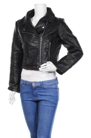 Дамско кожено яке Lee Cooper, Размер M, Цвят Черен, Еко кожа, Цена 37,80лв.