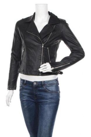 Дамско кожено яке Lily Loves, Размер M, Цвят Черен, Еко кожа, Цена 39,69лв.