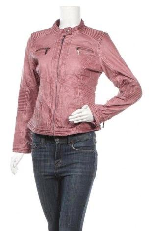 Дамско кожено яке Lisa Tossa, Размер M, Цвят Розов, Еко кожа, Цена 33,99лв.