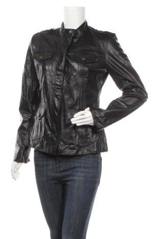 Дамско кожено яке Lloyd, Размер L, Цвят Черен, Естествена кожа, Цена 132,30лв.