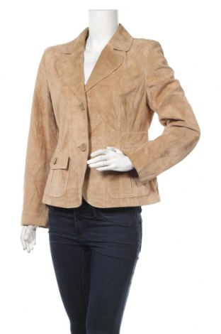 Дамско кожено яке Loft By Ann Taylor, Размер S, Цвят Кафяв, Естествен велур, Цена 82,32лв.