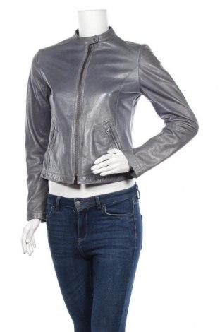 Γυναικείο δερμάτινο μπουφάν Mabrun, Μέγεθος S, Χρώμα Μπλέ, Γνήσιο δέρμα, Τιμή 43,25€