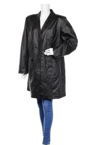 Γυναικεία δερμάτινη καμπαρντίνα Mia Linea, Μέγεθος XXL, Χρώμα Μαύρο, Γνήσιο δέρμα, Τιμή 21,04€