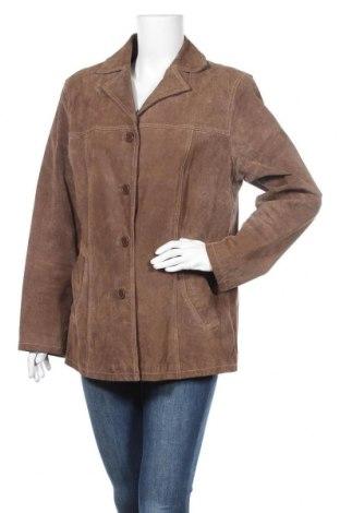 Дамско кожено яке Michele Boyard, Размер XL, Цвят Кафяв, Естествена кожа, Цена 43,68лв.