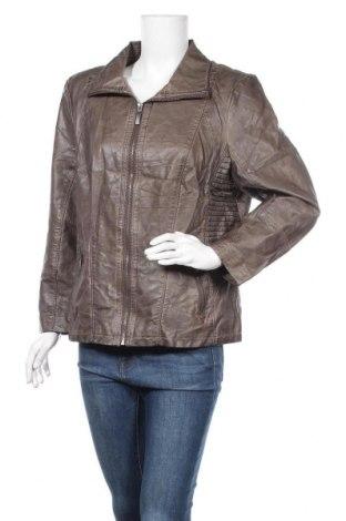 Дамско кожено яке Michele Boyard, Размер XXL, Цвят Бежов, Еко кожа, Цена 33,58лв.