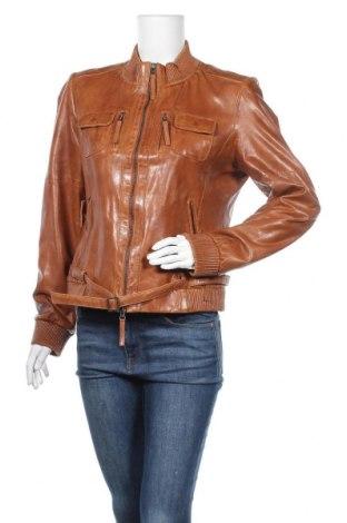 Дамско кожено яке More & More, Размер L, Цвят Кафяв, Естествена кожа, Цена 42,05лв.