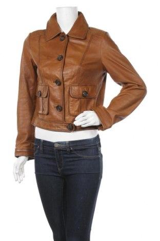 Дамско кожено яке More & More, Размер M, Цвят Кафяв, Естествена кожа, Цена 72,45лв.