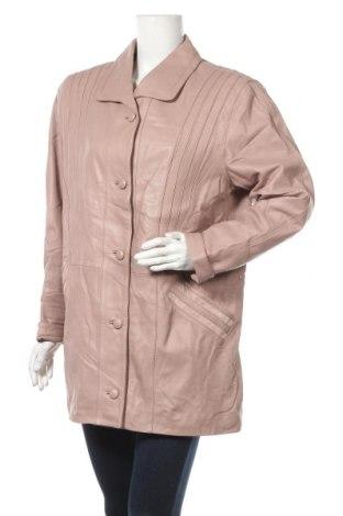 Дамско кожено яке Morena, Размер L, Цвят Розов, Естествена кожа, Цена 73,19лв.