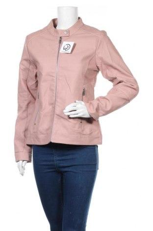 Дамско кожено яке Multiblu, Размер M, Цвят Розов, Еко кожа, Цена 24,57лв.