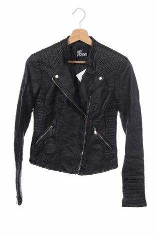 Дамско кожено яке My Hailys, Размер XS, Цвят Черен, Еко кожа, Цена 39,69лв.