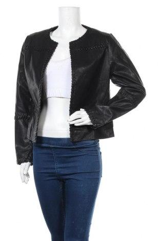Γυναικείο δερμάτινο μπουφάν Ness, Μέγεθος M, Χρώμα Μαύρο, Δερματίνη, Τιμή 22,83€