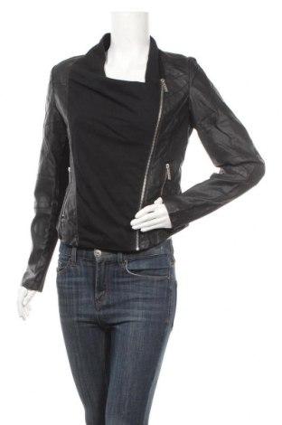 Γυναικείο δερμάτινο μπουφάν New View, Μέγεθος M, Χρώμα Μαύρο, Δερματίνη, Τιμή 21,43€