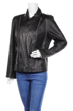 Дамско кожено яке Nine West, Размер XL, Цвят Черен, Естествена кожа, Цена 85,68лв.