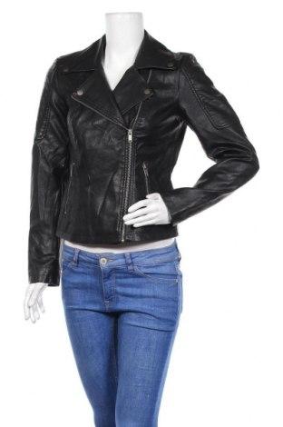 Дамско кожено яке Noisy May, Размер M, Цвят Черен, Еко кожа, Цена 39,69лв.