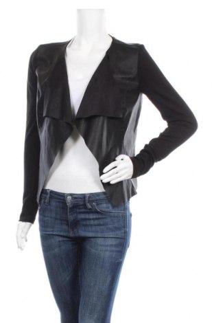 Дамско кожено яке ONLY, Размер S, Цвят Черен, Еко кожа, текстил, Цена 29,14лв.