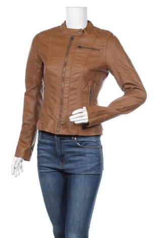 Дамско кожено яке ONLY, Размер M, Цвят Кафяв, Еко кожа, Цена 32,34лв.