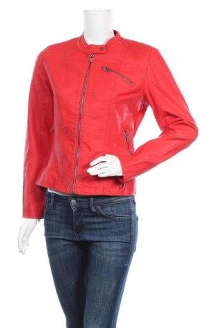 Дамско кожено яке ONLY, Размер M, Цвят Червен, Еко кожа, Цена 32,92лв.