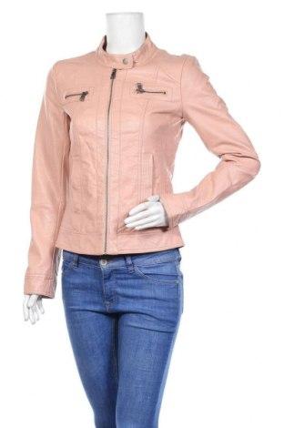 Дамско кожено яке ONLY, Размер S, Цвят Розов, Еко кожа, Цена 37,91лв.