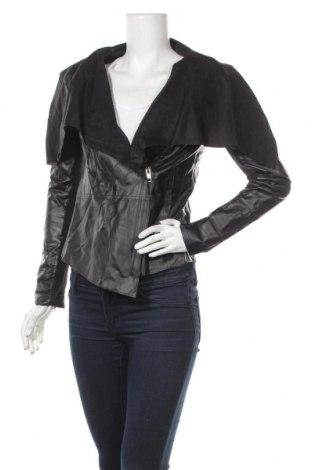 Дамско кожено яке Redial, Размер S, Цвят Черен, Еко кожа, Цена 28,35лв.