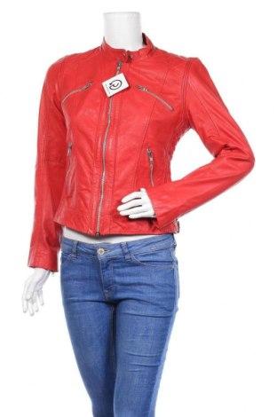 Дамско кожено яке Rock'n Blue, Размер M, Цвят Червен, Естествена кожа, Цена 144,90лв.