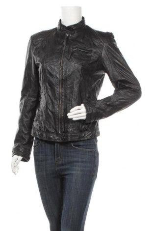 Дамско кожено яке S.Oliver, Размер M, Цвят Черен, Естествена кожа, Цена 52,92лв.