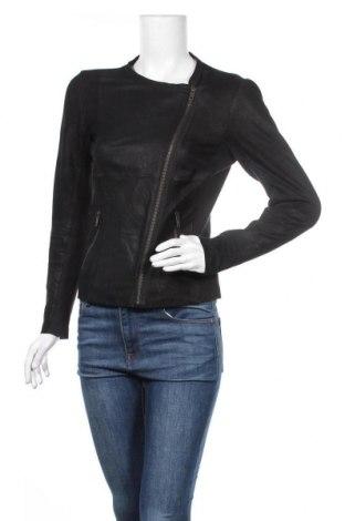 Дамско кожено яке Selected Femme, Размер S, Цвят Черен, Естествена кожа, текстил, Цена 117,60лв.