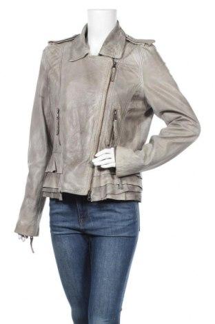 Дамско кожено яке Set, Размер L, Цвят Сив, Естествена кожа, Цена 159,60лв.